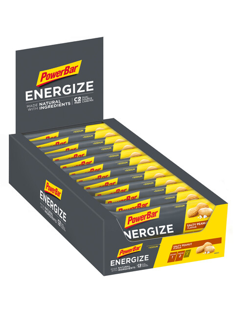 PowerBar Energize Made with Natural Ingredients Riegel Box Salty Peanut 25 x 55g
